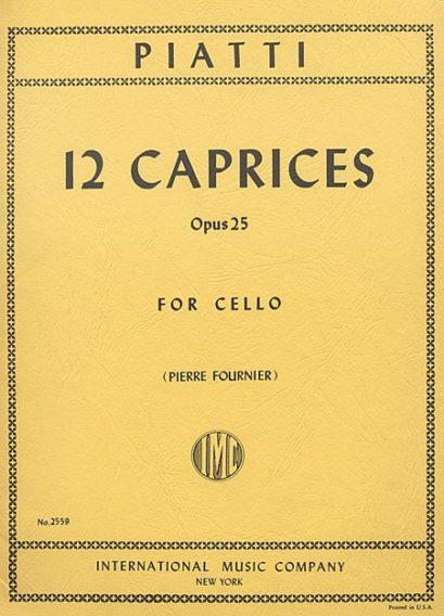 Piatti 12 Caprices for Cello, Op. 25 – International Ed.