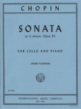 Chopin Sonata in G minor for Cello, Opus 65 - International Ed.