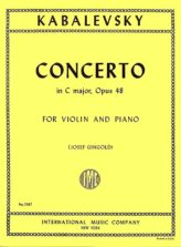 Kabalevsky Concerto in C major for Violin, Opus 48 - International Ed.