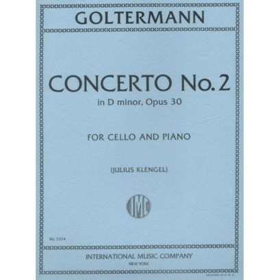 Goltermann Concerto No. 2 in D Minor for Cello, Opus 30 – International Ed.