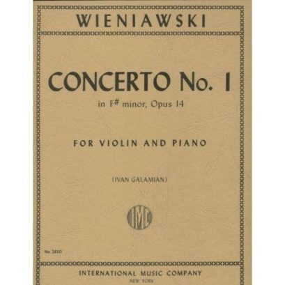 Wieniawski Concerto No. 1 for Violin in F Sharp Minor – International Ed.
