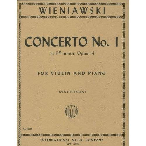 Wieniawski Concerto No. 1 for Violin in F Sharp Minor - International Ed.