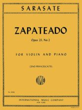 Sarasate Zapateado for Violin, Op. 23 No. 2 - International Ed.