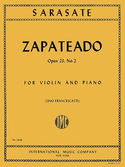 Sarasate Zapateado for Violin, Op. 23 No. 2 - International Ed.