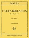 Mazas Etudes Brillantes for Violin, Op. 36 No. 2 - International Ed.