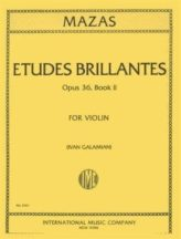 Mazas Etudes Brillantes for Violin, Op. 36 No. 2 - International Ed.