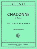Vitali Chaconne in G minor for Violin - International Ed.