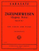 Sarasate Zigeunerweisen (Gypsy Airs) for Violin, Op. 20 No. 1 - International Ed.