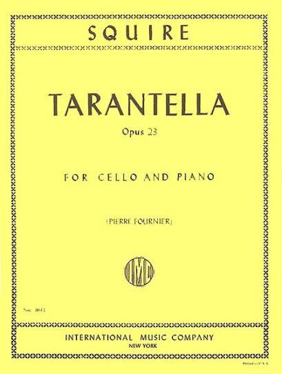 Squire Tarantella for Cello, Opus 23 – International Ed.