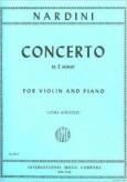 Nardini Violin Concerto in E Minor - International Ed.