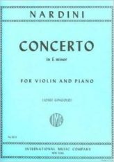 Nardini Violin Concerto in E Minor - International Ed.