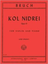 Bruch Kol Nidrei for Violin, Opus 47 - International Ed.