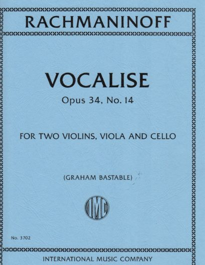 Rachmaninoff Vocalise for Viola, Opus 34, No. 14 – International Ed.