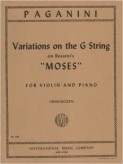 Paganini Variations on the G String for Violin (on a Theme from Moses) - International Ed.