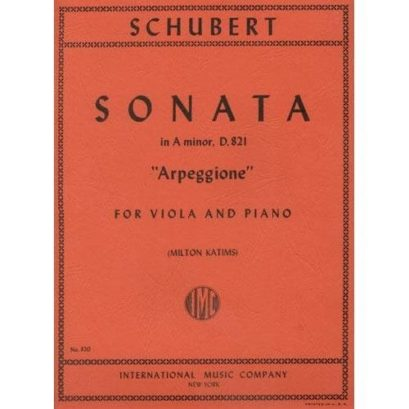 Schubert Sonata in A minor for Viola ('Arpeggione') - International Viola