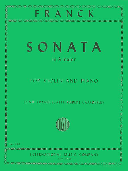 Franck Sonata in A Major for Violin - International Ed.