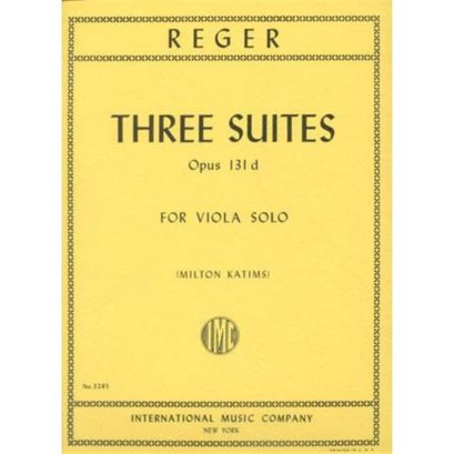 Reger Three Suites for Viola – International Ed.