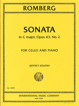 Romberg Sonata in C Major for Cello