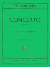 Telemann Concerto in G Major for Viola - International Ed.
