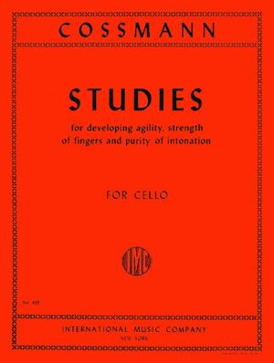 Cossman Studies for Development of Agility of Fingers for Cello - International Edition