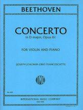 Beethoven Concerto in D Major for Violin - International ed.