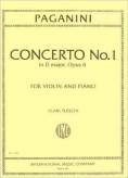 Paganini Concerto No. 1 for Violin in D Major - International Ed.