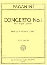 Paganini Concerto No. 1 for Violin in D Major - International Ed.
