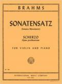 Brahms Sonatensatz (Scherzo) for Violin - International Ed.