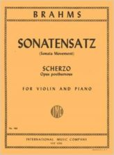Brahms Sonatensatz (Scherzo) for Violin - International Ed.