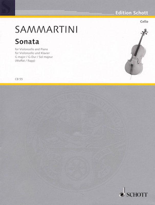 Sammartini Sonata in G Major for Cello – Schott Ed.