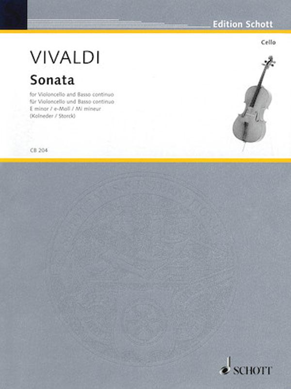 """Vivaldi Concerto in E minor for Cello (Sonata No. 5 from """"Six Sonatas,"""" RV 40) – Schott Ed."""