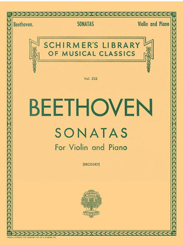 Beethoven Ten Sonatas for Violin – Schirmer Ed.