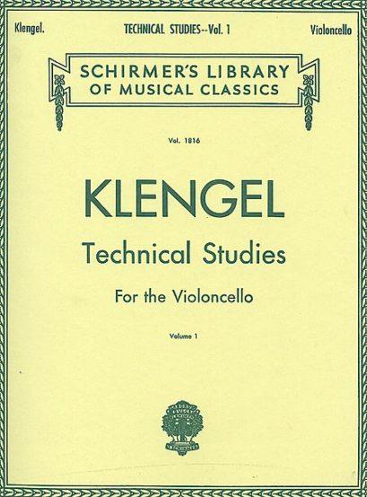 Klengel Technical Studies for Cello Volume 1 – Schirmer Ed.