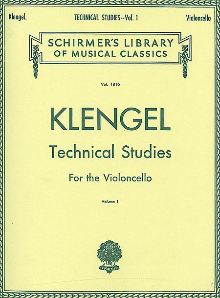 Klengel Technical studies for cello Schirmer Ed.
