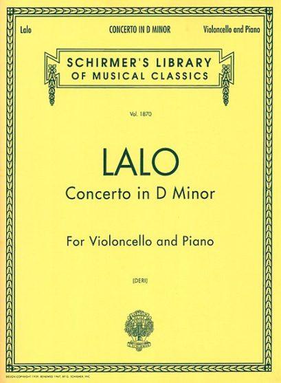 Lalo Cello Concerto in D Minor – Schirmer Ed.