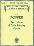 Popper High School of Cello Playing (40 Etudes), Op. 73 - Schirmer Ed.