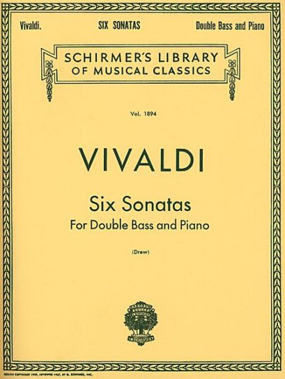 Vivaldi Six Sonatas for Bass – Schirmer Edition
