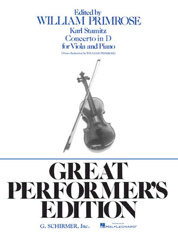 Stamitz Concerto in D Major for Viola, Opus 1 – Schirmer Ed.