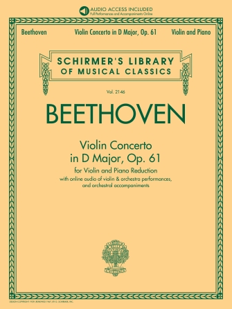 Beethoven Concerto in D Major for Violin – Schrimer ed.