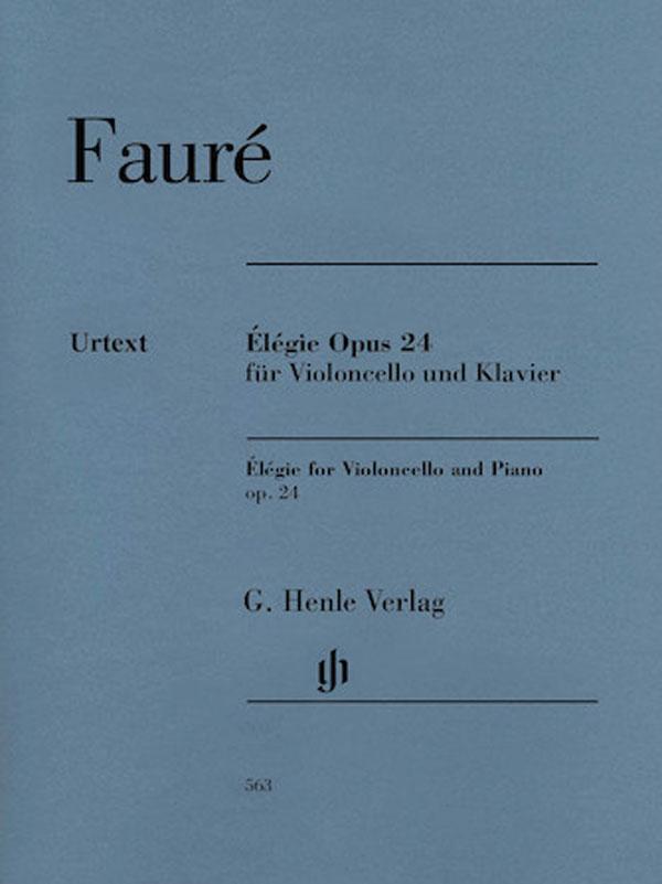 Faure Elegie for Cello, Opus 24 – Henle Ed.