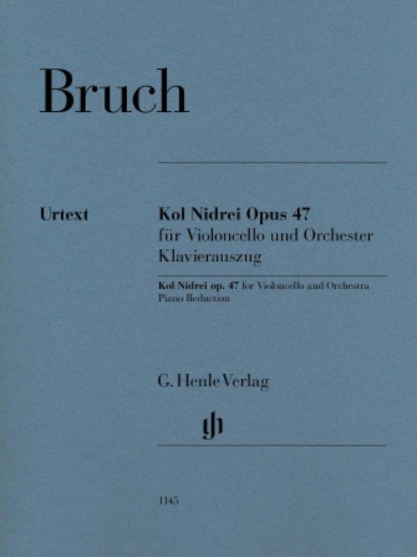 Bruch Kol Nidrei for Cello, Op. 47 – Henle Ed.