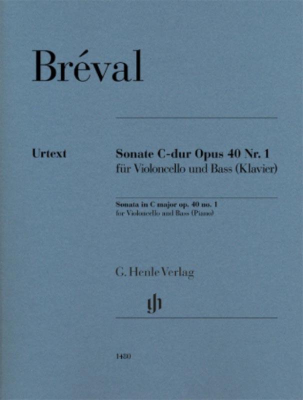 Breval Sonata in C Major for Cello – Henle Ed.