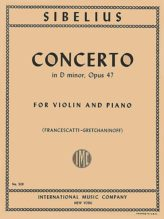 Sibelius Concerto in D minor for Violin, Op. 47 - International Ed.