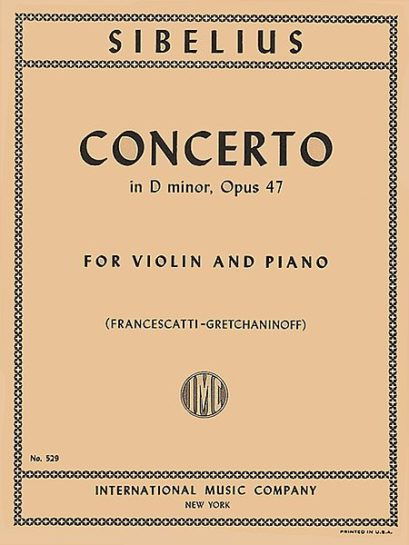 Sibelius Concerto in D minor for Violin, Op. 47 – International Ed.