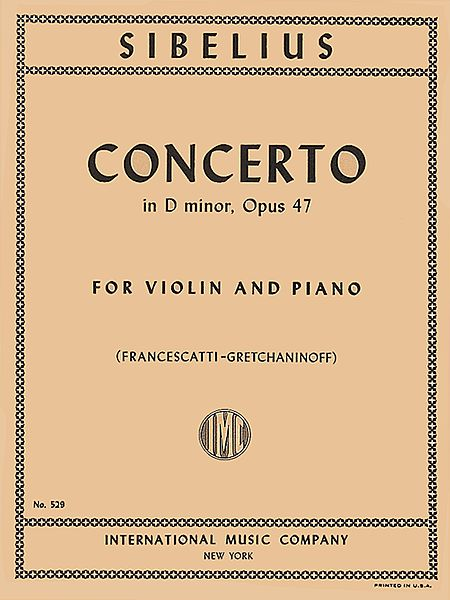 Sibelius Concerto in D minor for Violin, Op. 47 - International Ed.