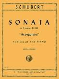 Schubert Sonata in A Minor for Cello 'Arpeggione', D. 821- International Ed.