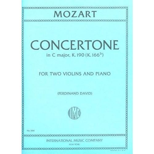 Mozart Concertone in C major for Violin, K. 190 - International Ed.