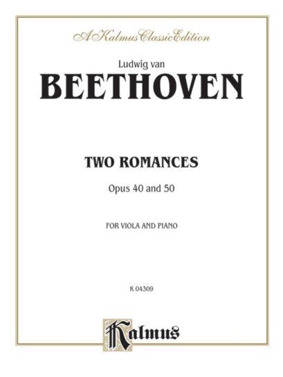 Beethoven Two Romances for Viola, Opus 40 & 50 – Kalmus Classic Ed.