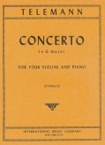 Telemann Concerto in G major for Four Violins - International Ed.