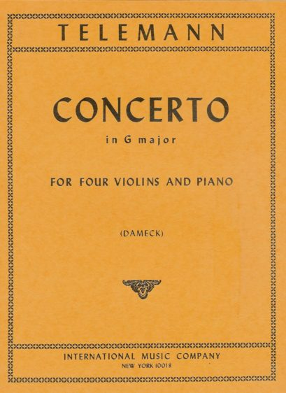 Telemann Concerto in G major for Four Violins – International Ed.